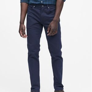 NEW Banana Republic Slim Traveler Casual Pant Navy